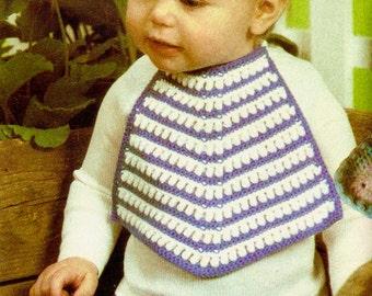 Vintage Striped Bib Crochet Pattern