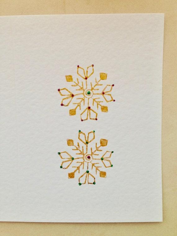 Handmade Card, Christmas Card, Snowflake Card, Christmas Snowflake, Unique Card, Individual Greeting Card