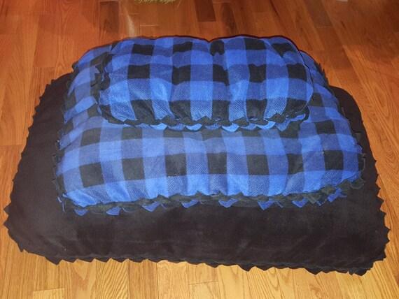 Small Handmade Fleece Dog / Cat Bed