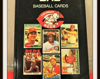 1989 Topps Cincinnati Reds Baseball Card Book, Price Stearn Sloan, Baseball Cards, Big Red Machine, Major League Baseball
