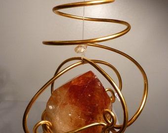 Spirale ENERGY, Citrine Spiral hanging, Spirituality, chakras, l'AgeDePierre