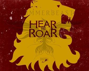 Game of Thrones svg   House Lannister svg   Hear Me Roar svg   Game of Thrones fan svg   GOT svg   Lannister Hear Me Roar SVG   SVG Cut File