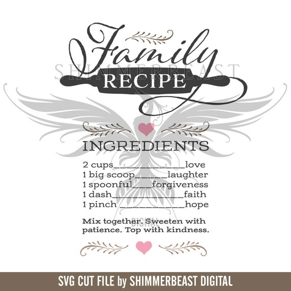 Family Recipe SVG Quote Svg Home