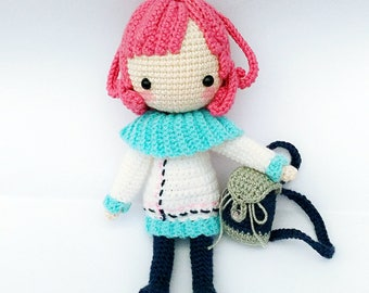 Doll Crochet/Amigurumi Pattern Instruction - Cheryl 雪丽儿 图解