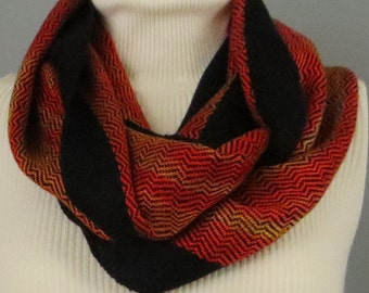Infinity Scarf. Handwoven. Hand Dyed. Silky Soft
