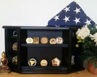 Military Coin Holder--Army-Navy-Marine-Air Force--Military Coin Display