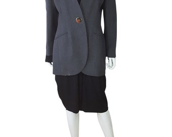 CHRISTIAN DIOR Vintage Grey Wool Coat (14)