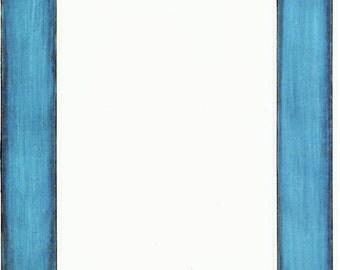 Blue White Stripes Cardstock Frame My Mind's Eye Frame Up's Scrapbook  Embellishments Cardmaking Crafts