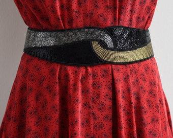 beaded velcro waist belt
