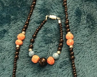 Turquoise and orange  coral