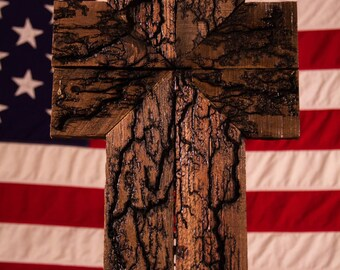 Rustic Wall Cross (WITHOUT COLOR) // Wooden Cross // Unique Cross // Rustic Home Decor // Rustic Gift // Handmade Cross // Christian Gift //