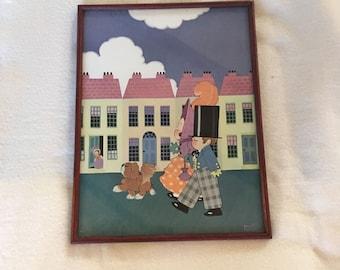 "Framed print of Chloe Preston ""the posh Street"" from the 1920 's"