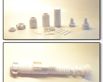 3d printed Luke Skywalker ROTJ inspired lightsaber. Class 1. 17 piece kit.