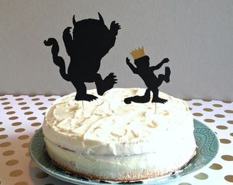Where the Wild Things Are Cake Topper, Where the Wild Things Are Party Supplies, Wild One Cake Topper, Wild One Party Supplies