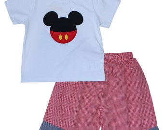 Mickey Red Shorts Set