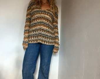 LAST CHANCE ~ Vintage Bohemian Loose Knit Sweater