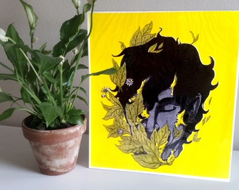 Decaying with the plants : risograph print