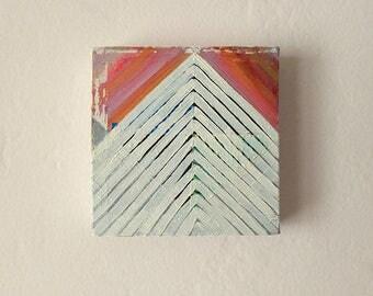 Pyramid, Original Oil Painting, Tiny Painting