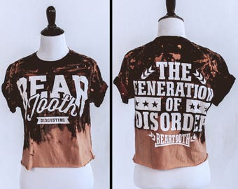Beartooth bleached distressed crop top - Reworked band tee