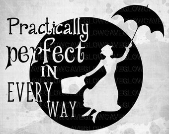 Disney svg/ Mary Poppins SVG/ Disney SVG File. PNG/ Disney Clipart/ Mary Poppins Clipart