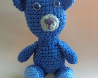 Knitted bear cub