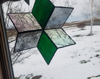 Stained Glass 3D Star
