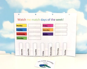 Learn days of the week, KS1, Early learners, Home education, Teaching resource, Visual supports, Children's development, EYFS