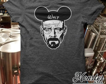 Walt With Mouse Ears Parody Ringspun T-Shirt