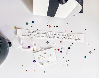 Will you be my Bridesmaid? Balloon box Kit