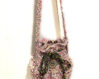 Crochet shoulder bag, crochet bag, everyday bag