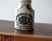 Antique Grey Poupon Mustard Jar Pot