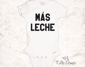 Más Leche Baby Onesie baby shower gift funny baby onesie hipster baby trendy baby more milk