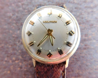 Men's Vintage Watch BULOVA ACCUTRON WATCH  Patented 10K Gold Filled Tuning Fork Classic Vintage