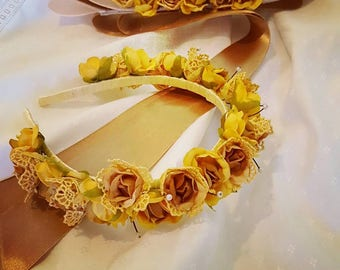 Flower Headband + matching belt