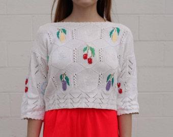 Vintage / Knit Fruit Sweater