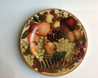 "Block Country Orchard 12"" Chop Plate / Round Serving Platter by GEAR"