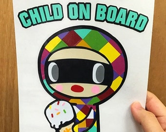 Tokidoki Caramella / Ice Cream Bandit Inspired Layered Vinyl Decal