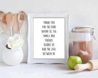 Kitchen Prayer Printable