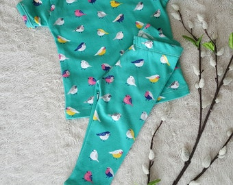 Baby Girl pajamas, baby girl sleepwear, infant girl 12 month pajamas