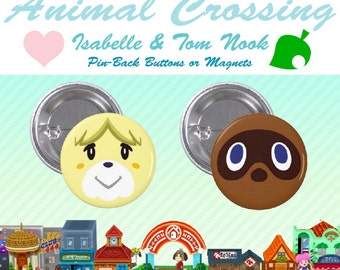 Animal Crossing~Pin-Back Button & Magnet