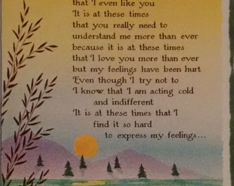 1980's Blue Mountain Arts AireBrush Feelings Susan Polis Schutz I Really Do Love You Greeting Card
