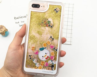Disney Tsum Tsum Sparkle Glitter iPhone 6s case glitter, iPhone 6s case Disney, iPhone 6 case glitter, Disney iPhone 6s case