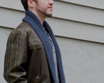 Extra Long Crochet Ribbed Scarf