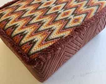 Retro 1970's Kneeler Footstool