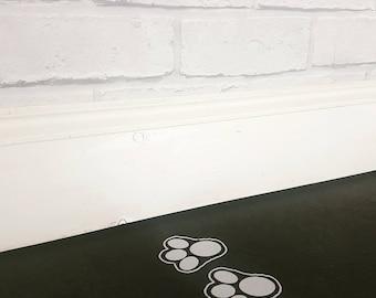 20 Easter bunny footprints vinyl decal Free p&p