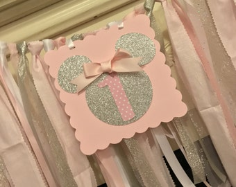 First Birthday Girl, Minnie Mouse Birthday Banner, Minnie Decorations, Minnie Mouse 1st Birthday Partym