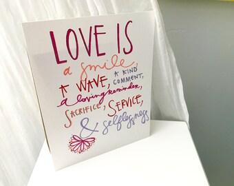 Love Is Print