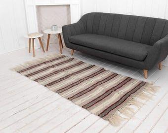 Hallway Runner Rug Striped Wool Area Modern Living Room