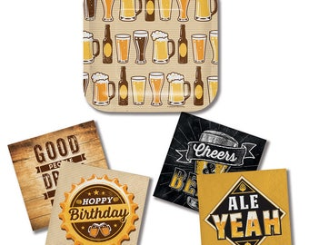 Cheers and Beers Party Napkins/ Beer Party Beverage Napkins/ Beer Theme Napkins/ Beer Party Supplies