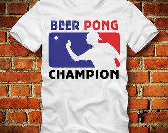 BOARDRIPPAZ Beer Pong T SHIRT Beer Pong Champion Drinking Game Party Beer Pong Shirt Legend Fun Shirt Kult Cult Shirt Ping Pong